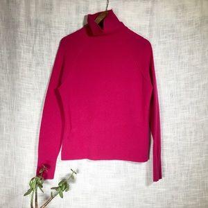 Just Cashmere Forte Seamed Turtleneck Sweater